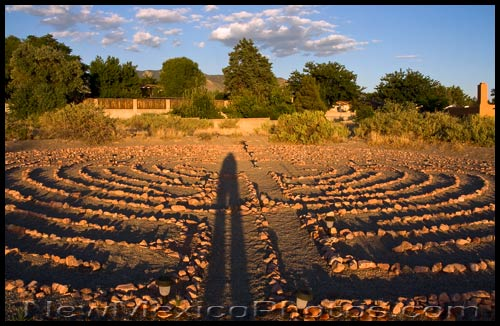 the labyrinth at new life presbyterian church in Albuquerque