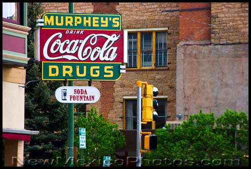 a drugstore sign in las vegas, new mexico