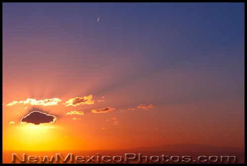 a classic New Mexican sunset